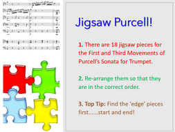 Purcell's Sonata for Trumpet and Strings 1st and 3rd mvts - Jigsaw Purcell Bundle!