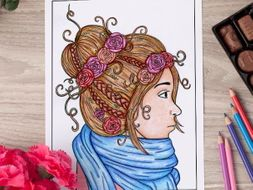 """Girl Coloring Page 