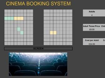 Cinema Seat Booking Spreadsheet System