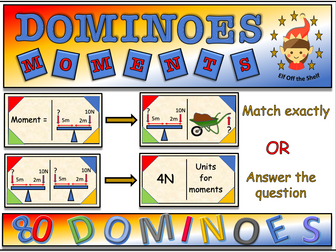 Forces - 80 Moments Dominoes KS3