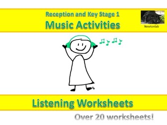 Music Listening Worksheets - Reception and Key Stage 1