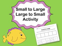Large to Small Fish Cut and Paste Activity Sheets