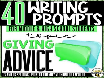Daily Writing Prompts | Advice | Middle and High School