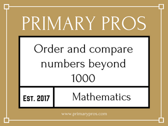 Order and compare numbers beyond 1,000