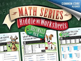 Decimals Worksheets:  Riddle-Me-Worksheets Decimals Pack 1