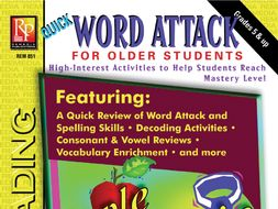 Word Attack Phonics & Decoding for Older Students