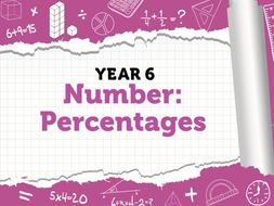 Year 6 - Percentages - Spring week 3-  equivalent FDP and finding a percentage of an amount