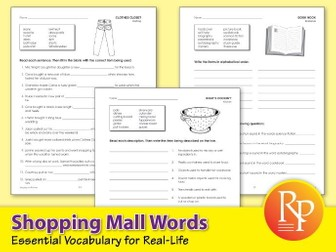 Shopping Mall Words: Essential Vocabulary