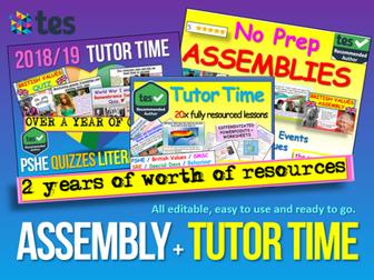 Assembly : Assembly + Tutor Time