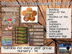 Woodland Classroom Set Up - Decor