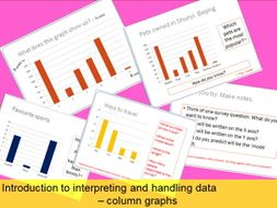 Introduction to interpreting and handling data - column bar graphs