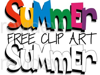 Summer Free Clipart - Summer letters