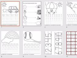 handwriting line practice 11 worksheets reception ks1 by merk90 teaching resources. Black Bedroom Furniture Sets. Home Design Ideas