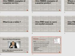 Business Market Research Quiz & Student Research Lesson Task- Ideal for New students or Cover Lesson