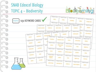 SNAB Biology Topic 4: Biodiversity - Keywords
