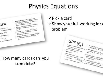 Physics Equations UPDATED