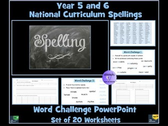 Spellings:  Year 6 - Word Challenges