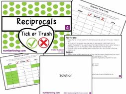 Reciprocal (Tick or Trash)
