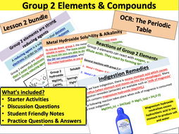 OCR Chemistry: Group 2 Elements & Compounds
