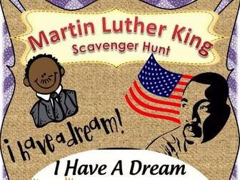 Martin Luther King Scavenger hunt