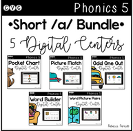 CVC Short A Bundle - 5 Digital Centers - Phonics (Google Classroom)
