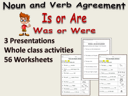 grammar noun verb agreement is or are was or were presentations