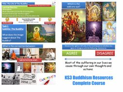 KS3  Buddhism - Complete Resource Pack (10 Lessons)