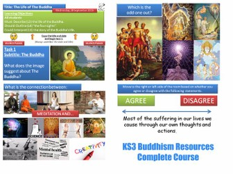 KS3  Buddhism - Complete Resource Pack [Everything you need to teach about Buddhism] 10 Lessons