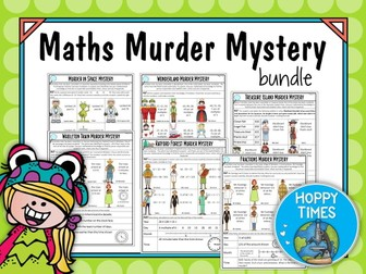 6 Maths Murder Mystery Bundle (KS2 Revision, SATs)
