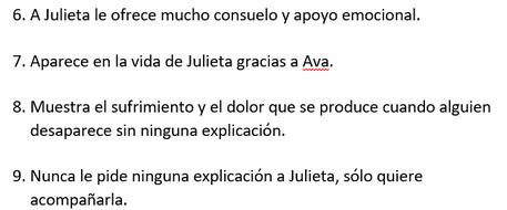 Julieta Almodóvar personajes quiz