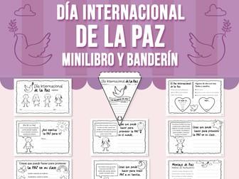 Día Internacional de la Paz Minilibro y Banderín - SPANISH VERSION