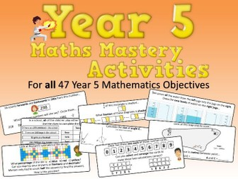 Year 5 Maths Mastery Activities