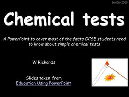 GCSE Chemical Tests