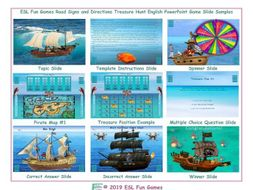 Road Signs and Directions Treasure Hunt Interactive English PowerPoint Game