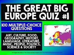 QUIZ: EUROPE GENERAL KNOWLEDGE QUIZ #1