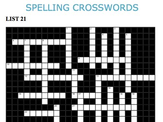Graded Spelling and Vocabulary Crosswords 21-25