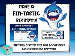 Birthday Certificates With Birthday Bookmarks