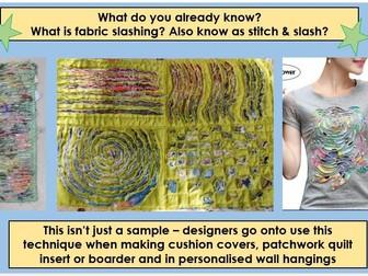 Art Textiles Skills: Fabric Slashing