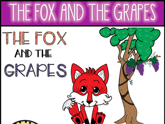 The Fox and The Grapes (Aesop's Fable) Clip Art