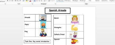 spanish armada eal worksheet teaching resources. Black Bedroom Furniture Sets. Home Design Ideas