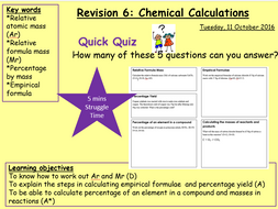 C2a Quantitative Chemistry Revision