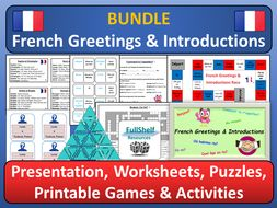 French Greetings / Introductions BUNDLE