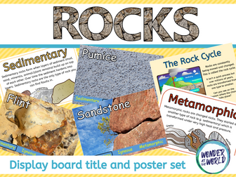 Rocks Classroom Display Pack KS2