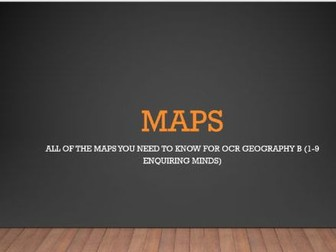 GCSE Geography - Maps Skills Revision