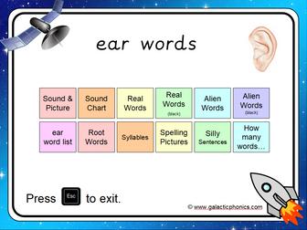 The 'ear' Phonics PowerPoint