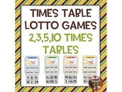 Times Table Lotto Games
