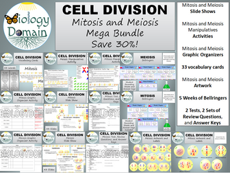 Cell Division: Mitosis and Meiosis Mega Bundle Save 30%!