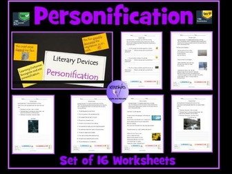 Personification Worksheets
