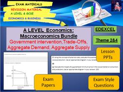 Macroeconomics Bundle including lessons, activities and exam questions: A Level Economics