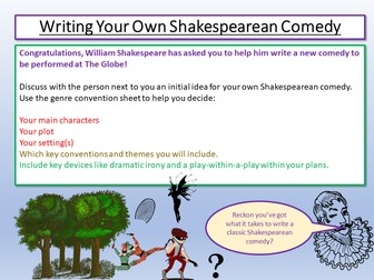 Shakespeare - Writing Your Own Comedy